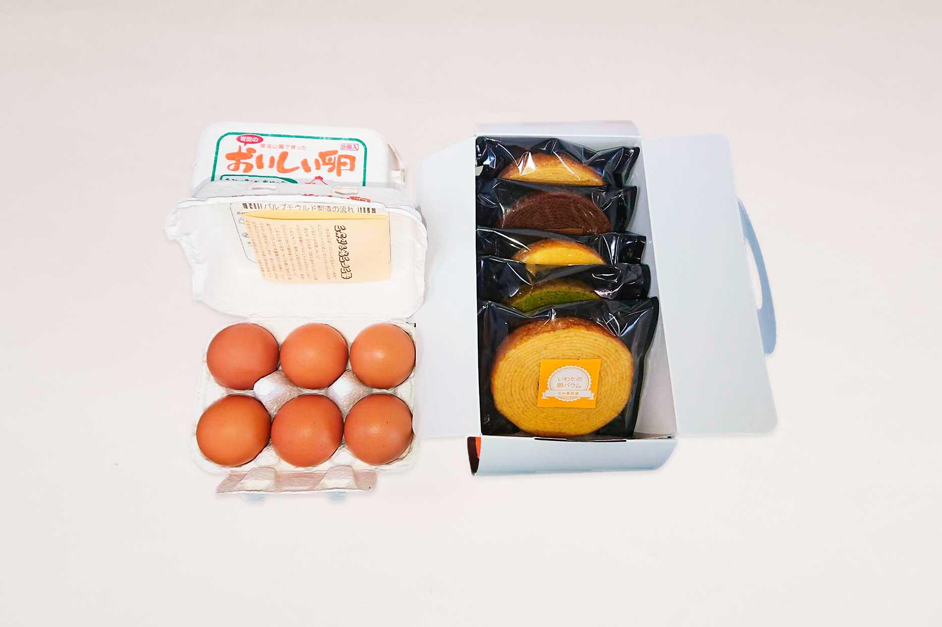 6個入り卵×2パックと卵バウム